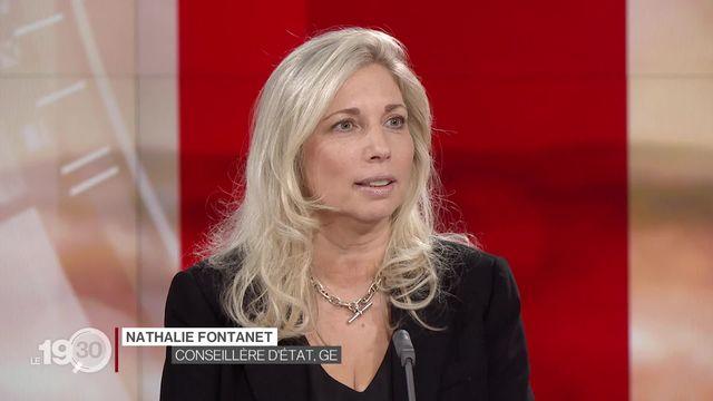 """Nathalie Fontanet: """"Je suis favorable à un congé parental. Pour avoir une vraie égalité, je pense que c'est une bonne solution."""" [RTS]"""