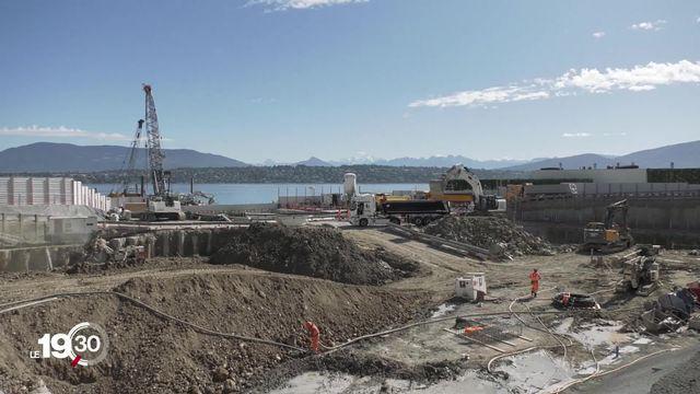 Le lac Léman et son potentiel énergétique: présentation du chantier de la future station de pompage du Vengeron. [RTS]