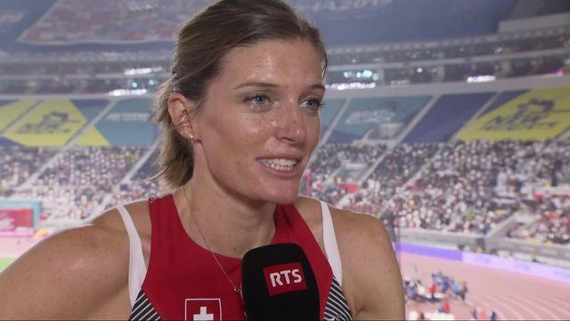 400m haies dames: Lea Sprunger (SUI) aux anges après sa qualification [RTS]