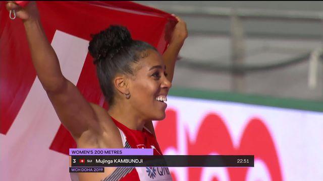 200m dames: Mujinga Kambundji (SUI) médaillée de bronze! [RTS]