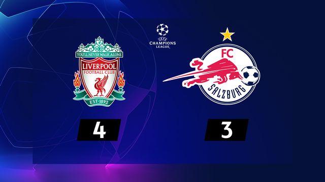 2ème journée, Liverpool - Salzbourg (4-3): résumé de la rencontre