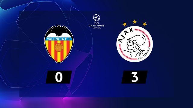 2ème journée, Valence - Ajax (0-3): résumé de la rencontre