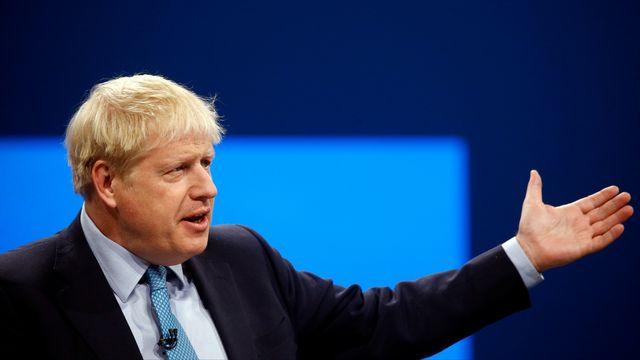 Boris Johnson, le 2 octobre 2019 lors de la conférence du Parti conservateur à Manchester. [Henry Nicholls - Reuters]