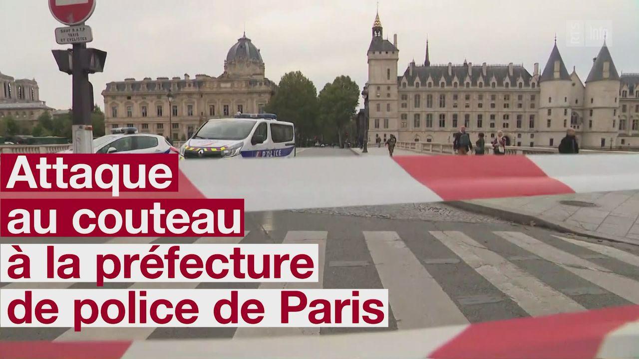 Quatre morts dans une attaque au couteau à la préfecture de police de Paris [RTS]