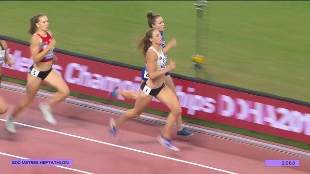 Heptathlon, 800m dames: Ruckstuhl (SUI) termine 4e de la course, 9e place finale [RTS]