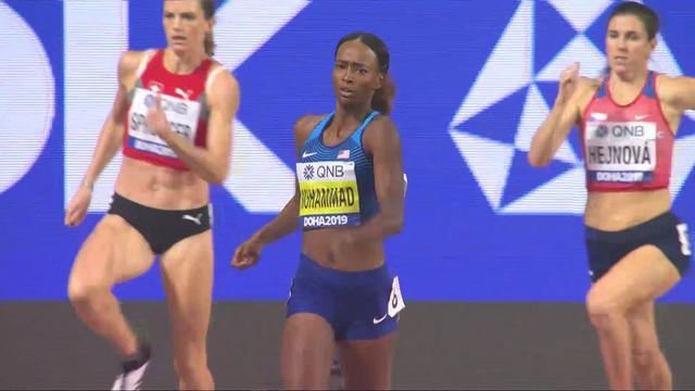 400m haies dames: Lea Sprunger (SUI) 4e, record du monde pour Dalilah Muhammad (USA) (52.16)! [RTS]