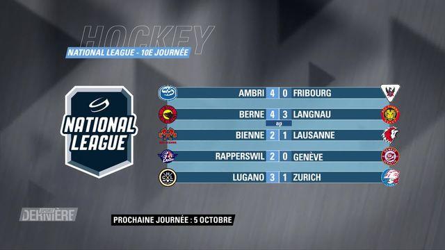 Hockey, National League: 10e journée, les résultats [RTS]