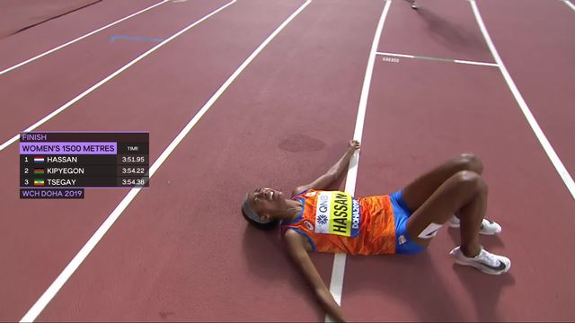 1500m dames: Sifan Hassan (NED) championne du monde! [RTS]