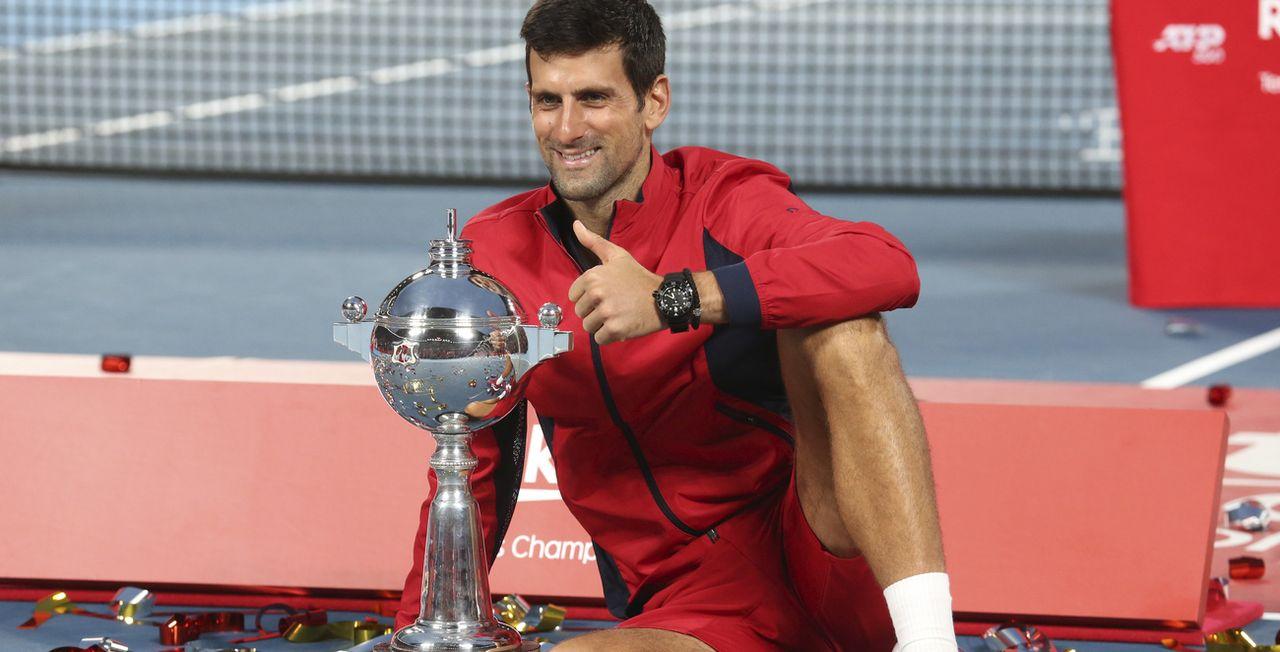 Novak Djokovic n'a pas traîné en finale. [Koji Sasahara - Keystone]