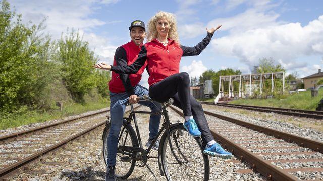 Nino Schurter et Jolanda Neff ont déjà la tête tournée vers les JO 2020. [Peter Klaunzer - Keystone]