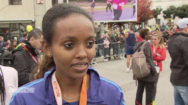 Morat-Fribourg: victoire d'Helene Bekele et de Dominic Lokinyomo Lobalu [RTS]