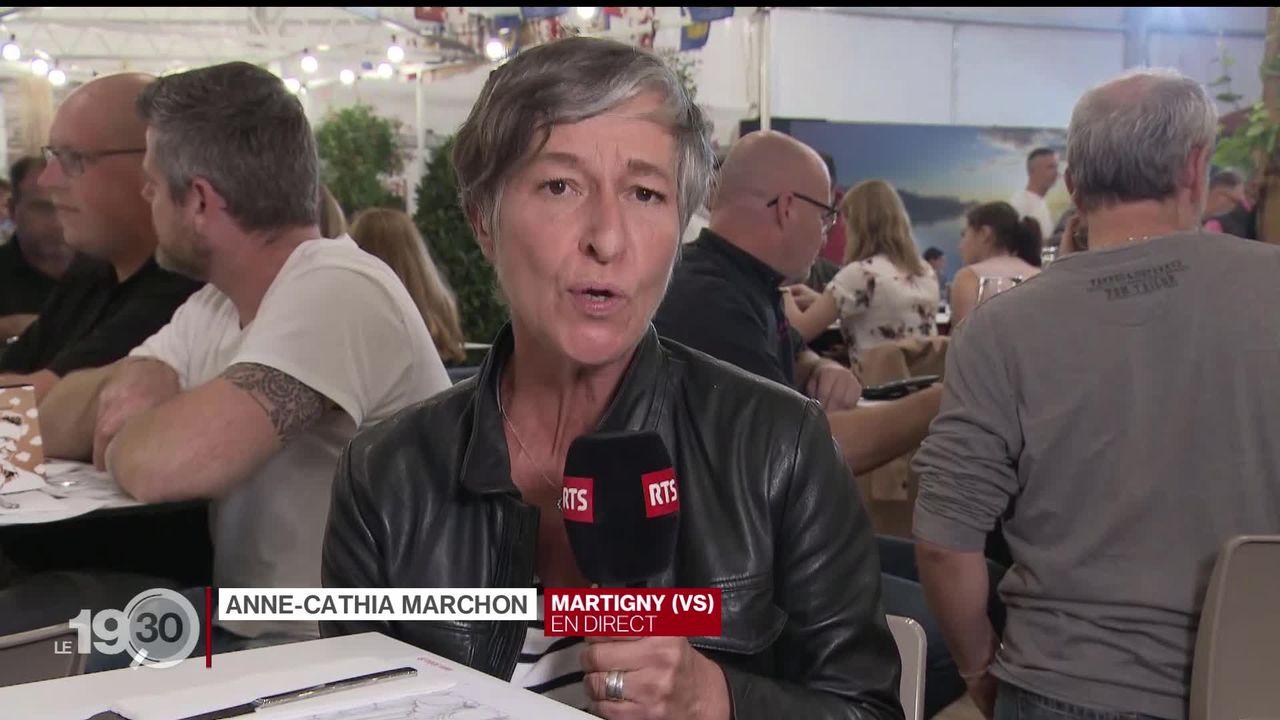 """Anne-Cathia Marchon """"Nouveau record d'affluence cette année: 230'000 personnes soit 7'000 de plus qu'en 2018."""" [RTS]"""