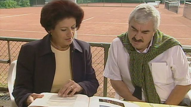 Les parents de Roger Federer en 2003. [RTS]