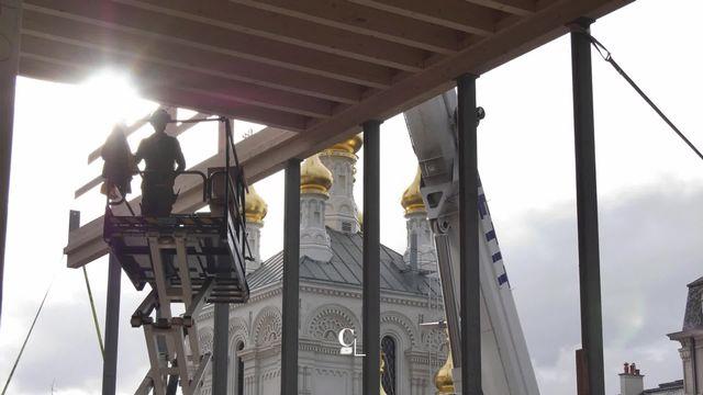 Genève - Un pavillon en bois dédié la danse contemporaine voit le jour sur la Place Sturm [RTS]