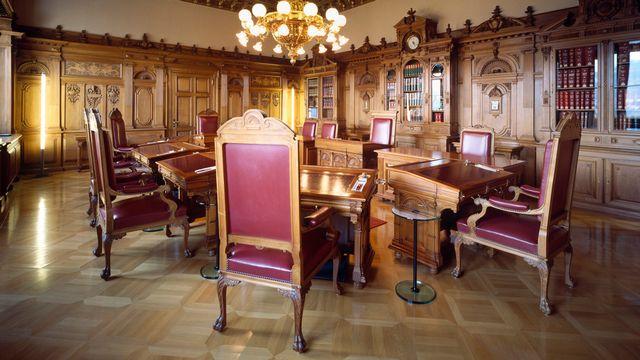 La salle du Conseil fédéral, à Berne. [Gaëtan Bally - Keystone]