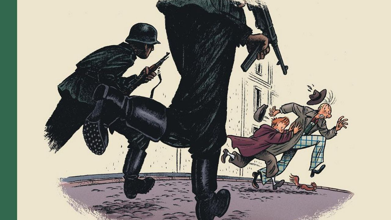 """Page de couverture de la bande dessinée """"Spirou. L'espoir malgré tout. Deuxième partie"""" d'Emile Bravo (Editions Dupuis) [Dupuis - DR]"""