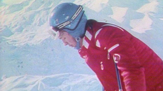 Les skieurs suisses Russi et Collombin. [RTS]