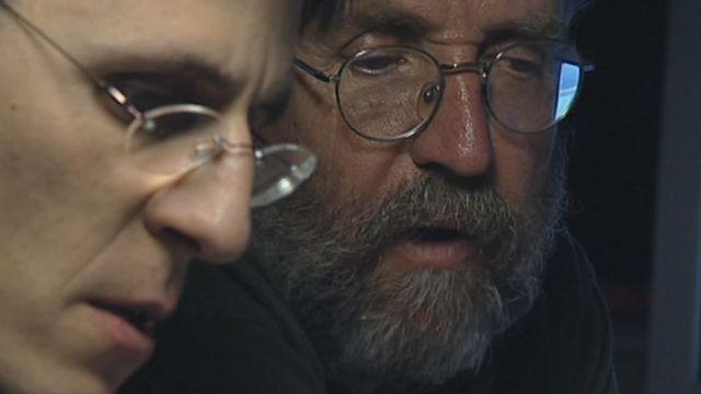 Didier Queloz (à gauche) et Michel Mayor (à droite), 2008. [RTS]