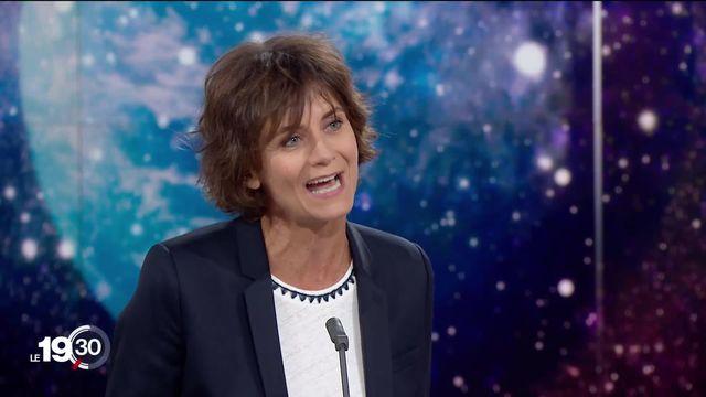 """Tania Chytil """"Ca parle de la culture scientifique qu'il y a ici. On donne les moyens et on investit dans la recherche."""" [RTS]"""