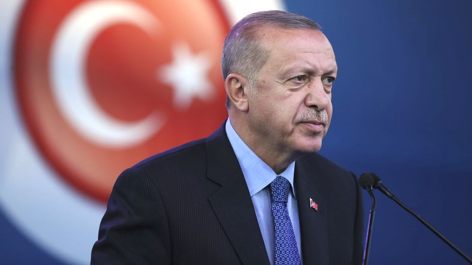 Le président Recep Tayyip Erdogan se dit prêt à lancer son offensive contre les Kurdes. [Pool - Presidential Press Service via AP/Keystone]