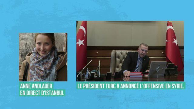 Recep Tayyip Erdogan lance l'offensive contre les forces kurdes dans le Nord de la Syrie [RTS]