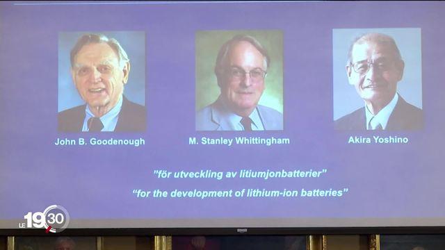 Le prix Nobel de chimie consacre une invention qui a révolutionné nos vies quotidiennes: la batterie au lithium. [RTS]