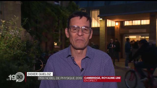 """Didier Queloz: """"La joie était folle hier. Un Nobel c'est une récompense extraordinaire, la plus importante pour un scientifique."""" [RTS]"""