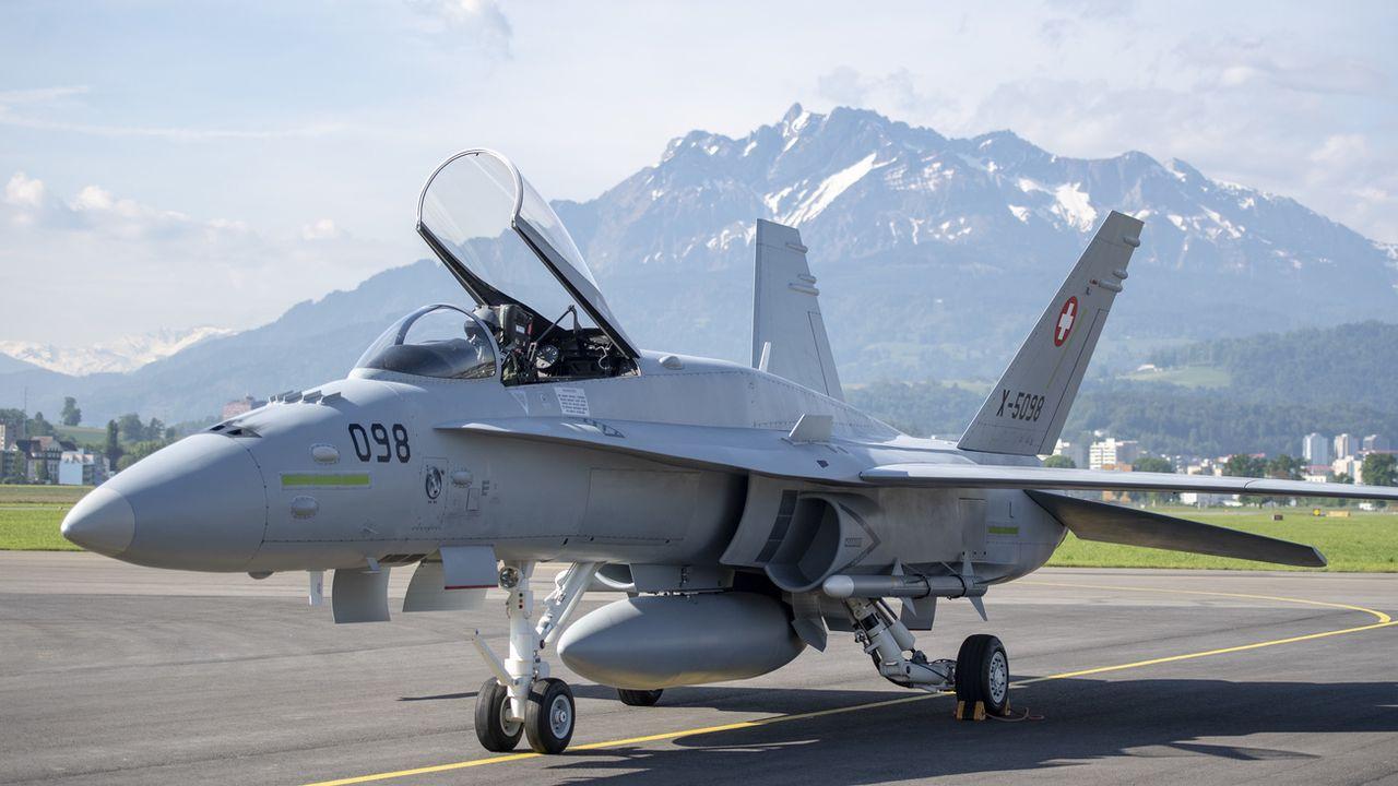L'un des 30 F/A-18 de l'armée suisse à remplacer [Urs Flueeler - Keystone]