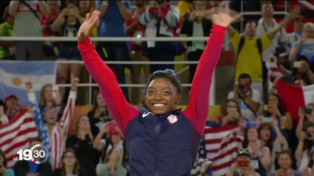 L'Américaine Simone Biles pourrait devenir l'athlète la plus médaillée aux championnats du monde. [RTS]