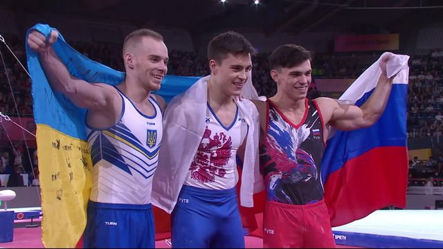 Concours general individuel messieurs: Nikita Nagornyy (RUS) remporte le titre mondial [RTS]