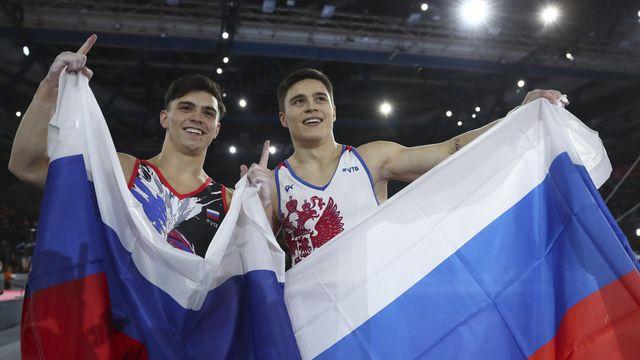 Nagornyy et Dalaloyan sont montés sur les deux premières marches du podium. [Mathias Schrader - Keystone]