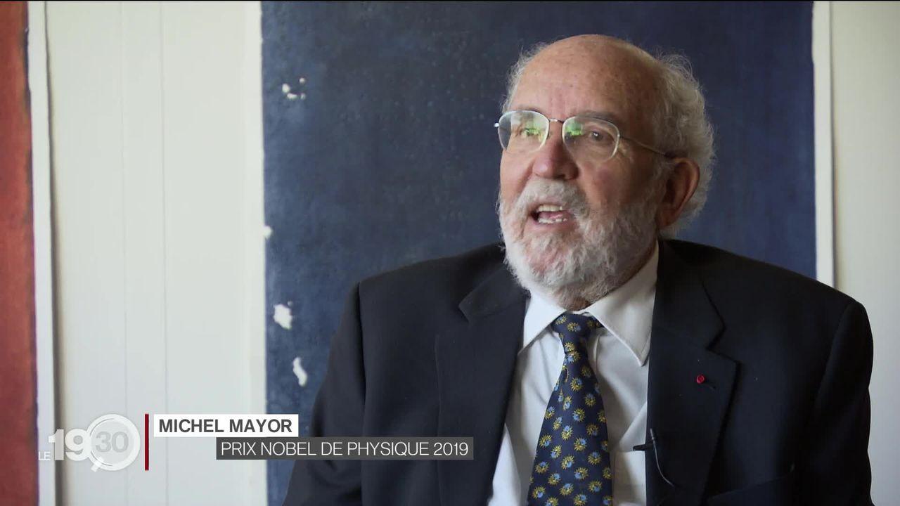 Le prix Nobel de physique Michel Mayor était l'invité exceptionnel de l'Université de Genève, à l'occasion du Dies Academicus. [RTS]