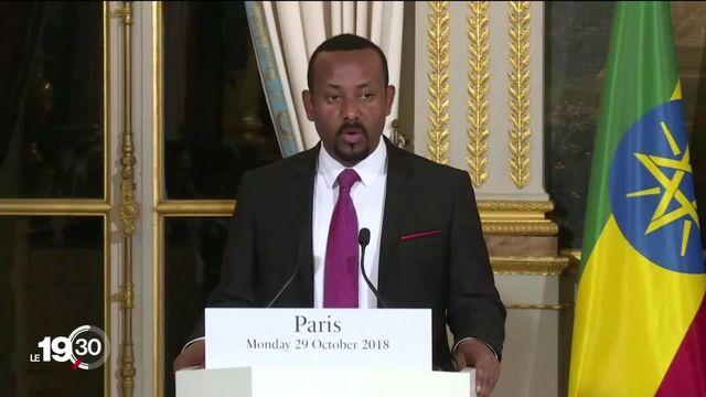 Pour son travail de réconciliation avec l'Érythrée, le Premier ministre éthiopien Abiy Ahmed reçoit le Nobel de la paix. [RTS]