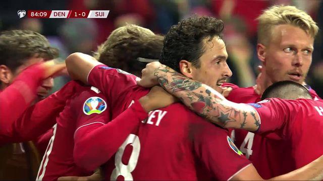 Groupe D, Danemark - Suisse (1-0): les Suisses s'inclinent en toute fin de match [RTS]