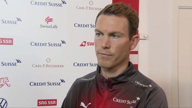 Groupe D, Danemark - Suisse (1-0): Stephan Lichtsteiner au micro de la RTS [RTS]