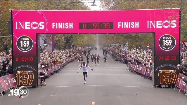 Le premier marathonien sous les deux heures [RTS]