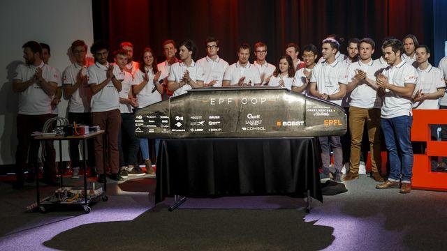 L'équipe de l'EPFL s'était classée à la troisième place du concours de l'Hyperloop. [Salvatore Di Nolfi - Keystone]