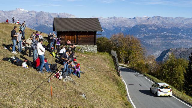 Christophe Hürni participera au 60e rallye international du Valais. [Jean-Christophe Bott - Keystone]