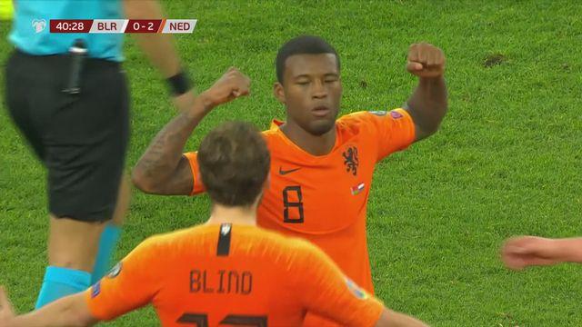 Gr.C, Bélarus - Pays-Bas (1-2): un doublé de Wijnaldum offre la victoire à son équipe [RTS]