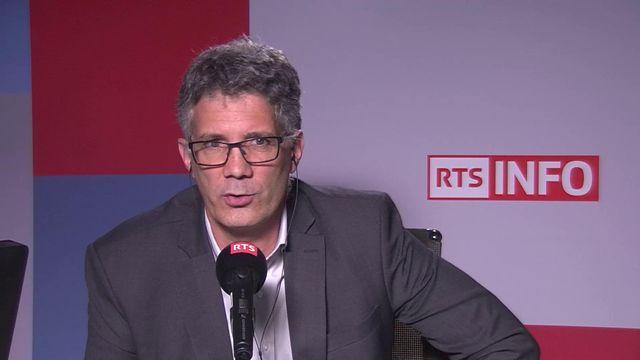 Dominique Fumeaux, responsable de la filière tourisme de la HES SO Valais, ancien directeur de Crans Montana Tourisme. [RTS]