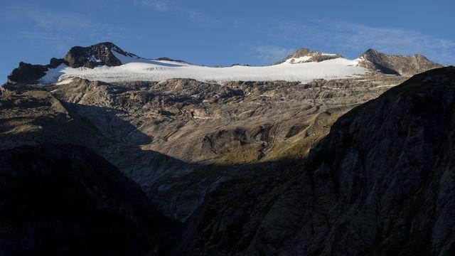Le glacier du Basòdino recule chaque année de 8 à 10 mètres. Tessin, le 18 septembre 2019. [Francesca Agosta - Keystone/Ti-Press]