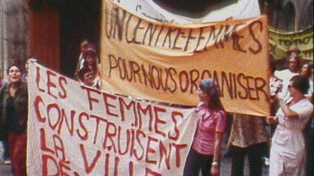 Manifestation des femmes du MLF à Genève en 1976. [RTS]