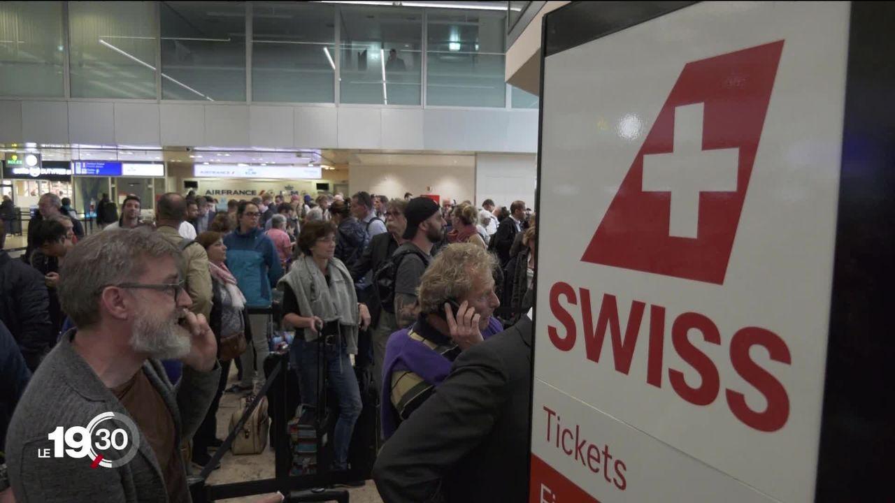 Swiss a dû annuler plusieurs dizaines de vols. Ses 29 Airbus A220 ont été cloués au sol. [RTS]