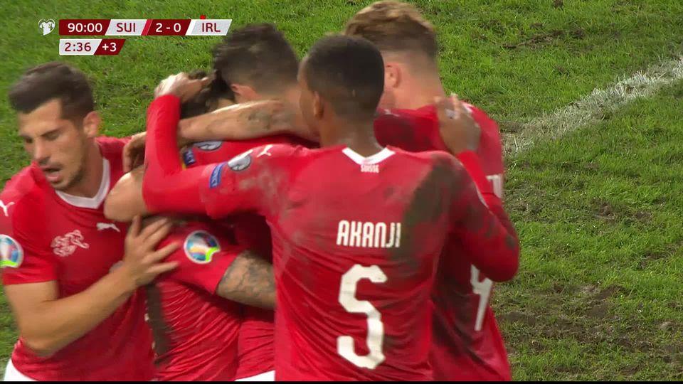 Gr.D, Suisse - Irlande (2-0): la Nati s'impose et reste dans la course à la qualification [RTS]
