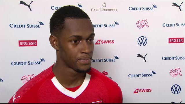 Gr.D, Suisse - Irlande (2-0): interview d'Edimilson Fernandes après la rencontre [RTS]