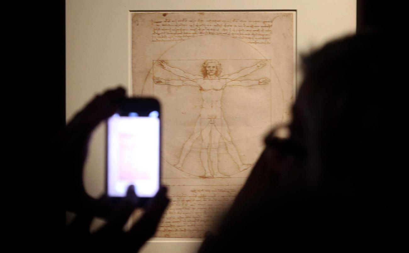 #034;L#039;Homme de Vitruve#034; de Léonard de Vinci pourra être exposé au Louvre