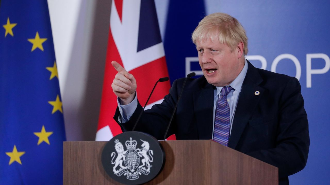 Boris Johnson à Bruxelles. [EPA/Stéphanie Lecocq - Keystone]