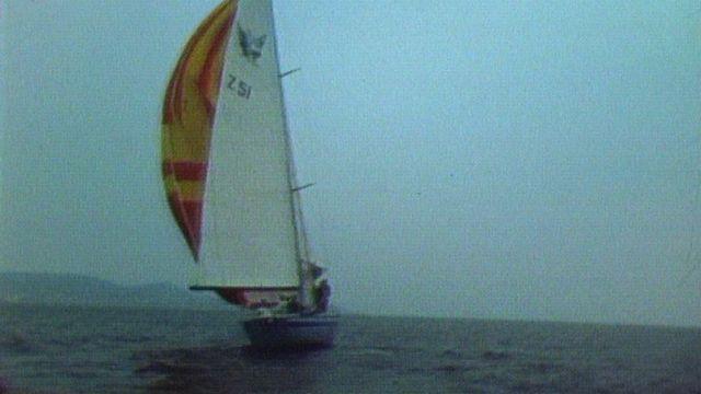 A bord de Gauloise, un bateau conçu pour Pierre Felhmann. [RTS]