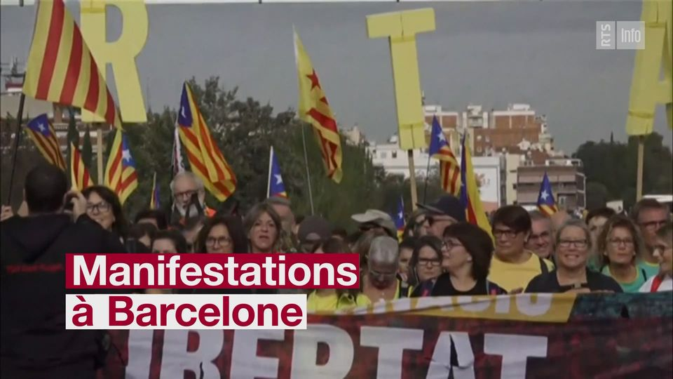 Grève générale en Catalogne après une nouvelle nuit de tensions [RTS]