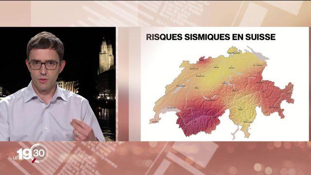 """Clotaire Michel """"Pour estimer les risques en Suisse il faut prendre en compte la vulnérabilité des bâtiments et la population."""" [RTS]"""